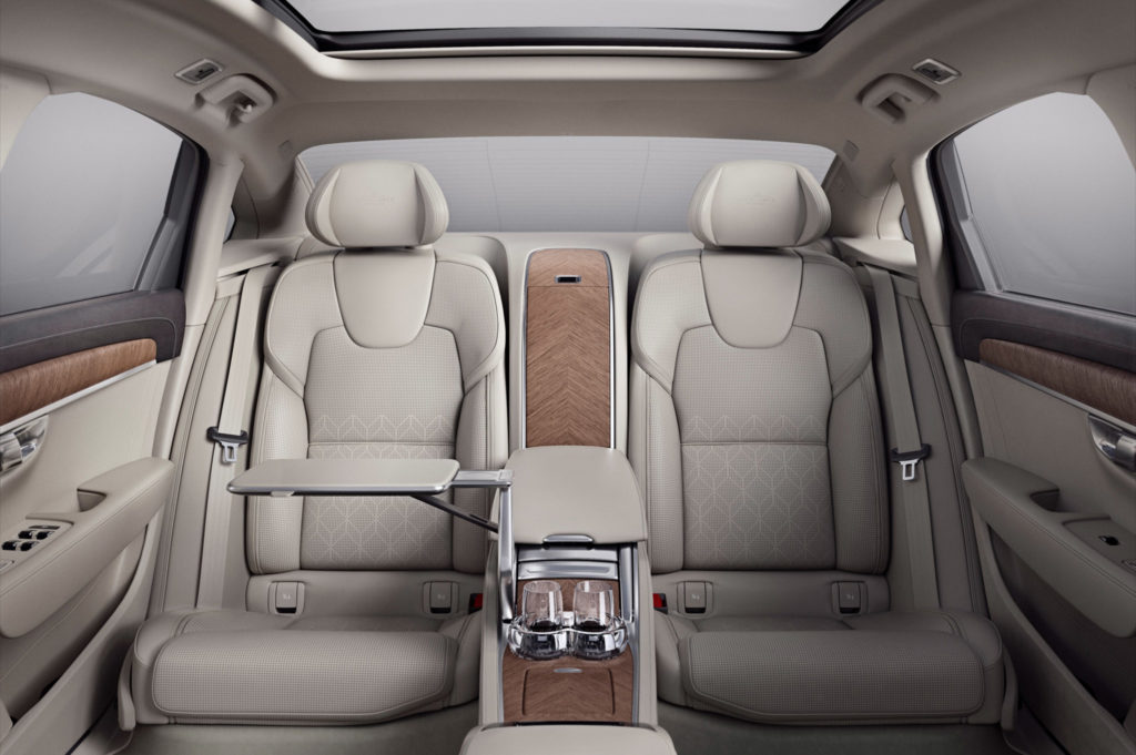Volvo S90 Excellence interior rear