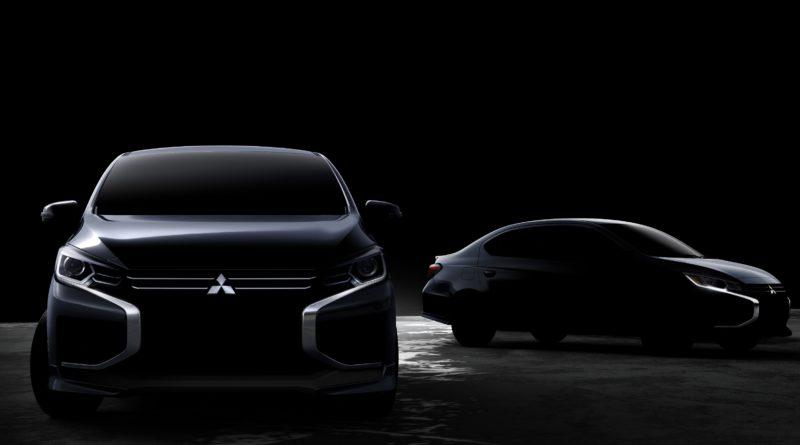 Первое изображение обновленных компактных моделей Mitsubishi: Mirage и Attrage
